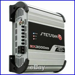 Stetsom EX3000 EQ 1 ohm Car Audio compact Amp 3000 Watts + FREE Sticker