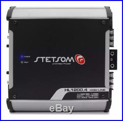 Stetsom HL1200.4 2 Ohms Car Audio High Line Amplifier 4 Channels HL1200 1K