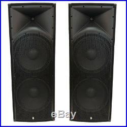 Twin 15 inch PA Speaker System 4800w Peak For DJ Karaoke or Live Sound (PAIR)