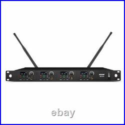 UHF Four 4 Channels Wireless In Ear Monitor System Stage Headphone Monitoring