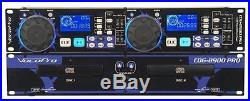Vocopro CDG-8900 Pro Dual CD/CD+G Player Karaoke KJ Beat Matching, Pitch Control