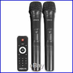 Vonyx Portable 12 Active PA Speaker System Bluetooth Wireless Microphones 500W