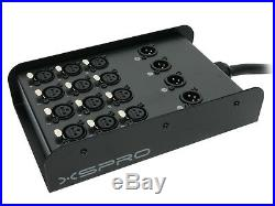 XSPRO 12 X 4 Channel 50' Pro Audio Low Profile Snake 12x4x50